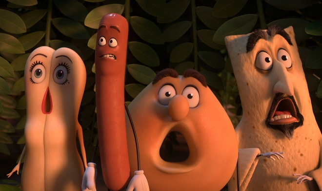 "Columbia Pictures' ""Sausage Party."""